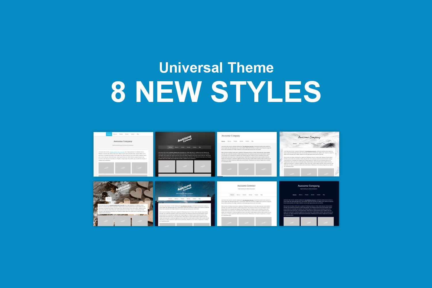 8 new styles for the Universal theme