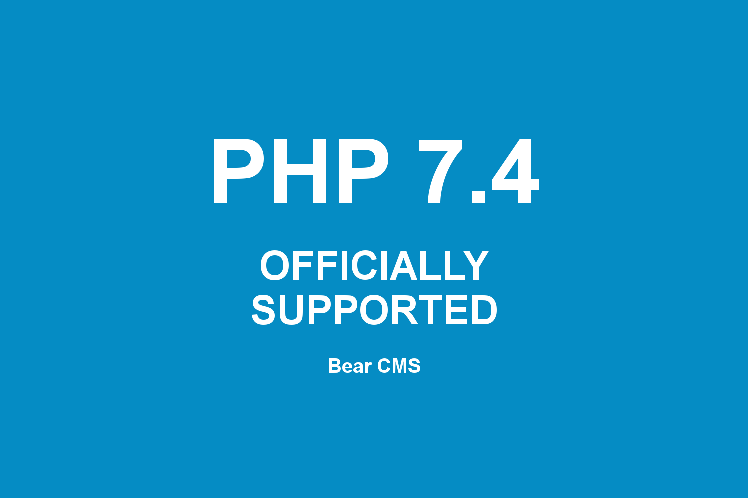 PHP 7.4 is now supported